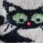 Halloween Knitted Cat - Colorwork