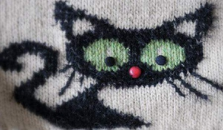 halloween knitted cat colorwork - Free Halloween Knitting Patterns