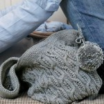 Ice Cable Bag Free Knitting Pattern