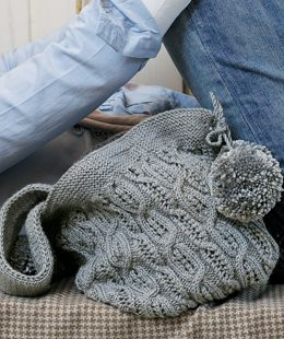 ice cable bag knitting pattern free