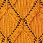 Knitted Diamond Lace