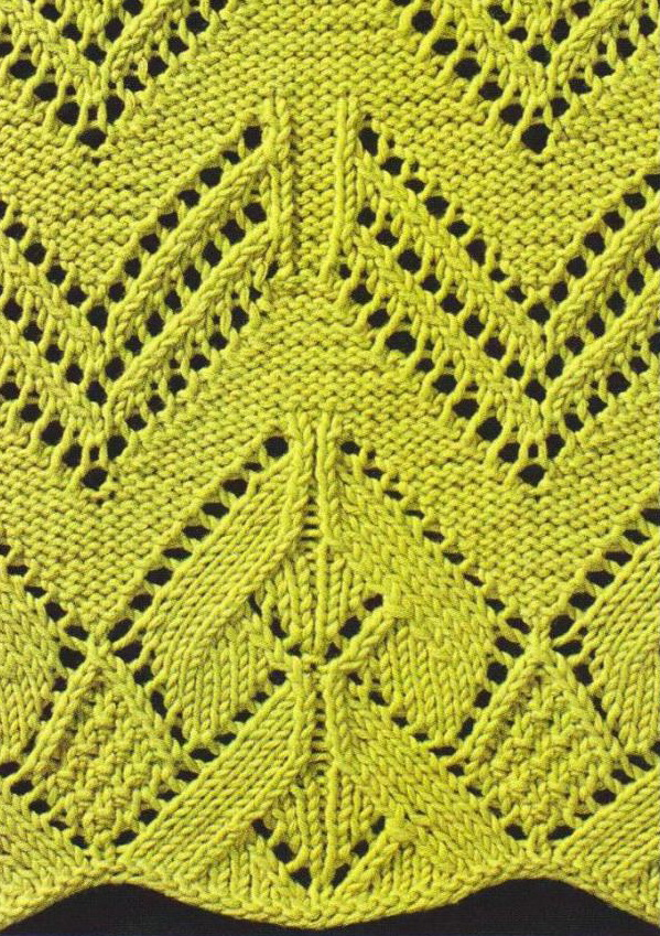 knitted lace withe pretty edge