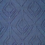 Lace Diamond Shape Knit Stitch