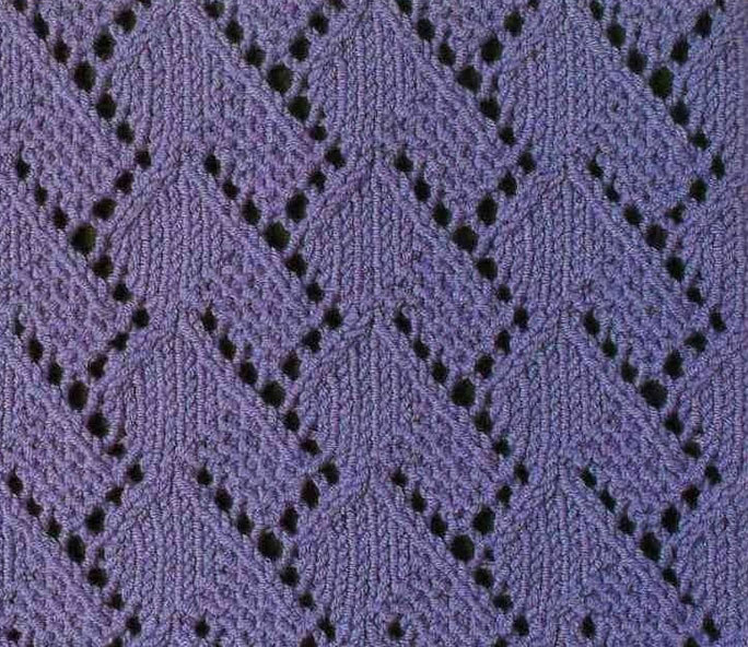 A Lace Stitch Pattern ⋆ Knitting Bee