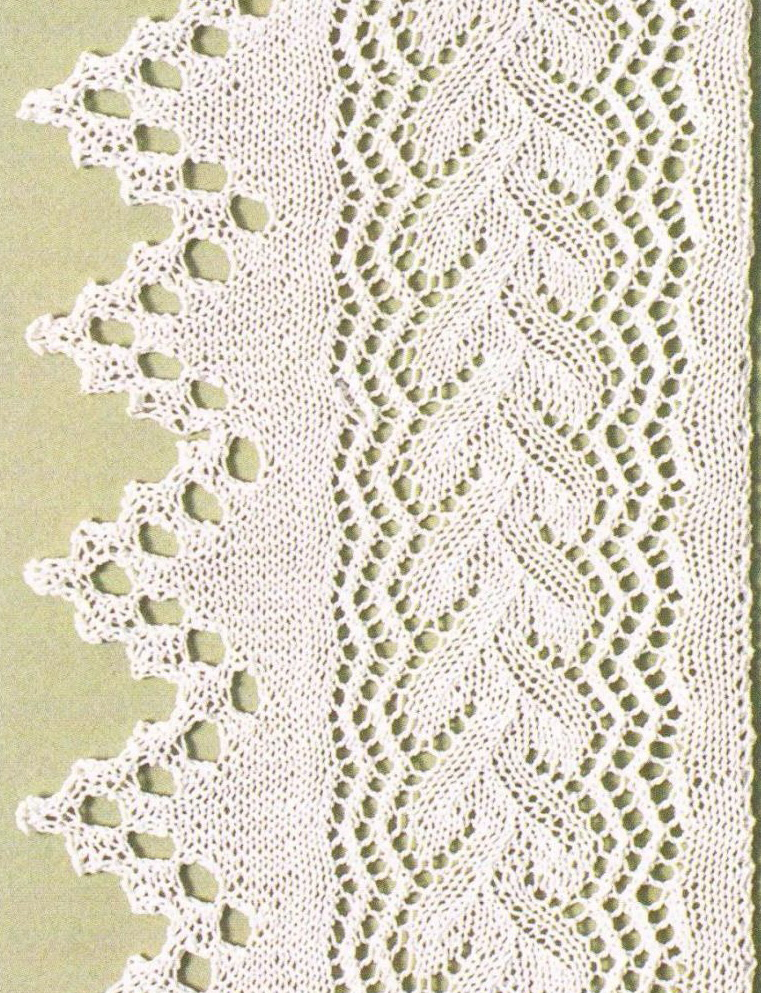 Knitted Edge and Lace Panel Chart