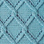 Knitted Triangle Trellis Lace
