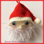 Cute Crochet Santa Ornament Free