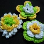 3D 3-Layer Crochet Flowers