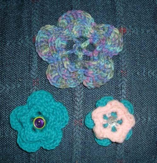 3 In 1 Flowers Crochet Pattern Knitting Bee