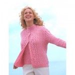 Aran Texture Twinset Knitting Pattern