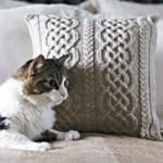Aran Pillow with a Celtic Design