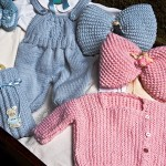 Baby Milk Romper Suit, Side-buttoned Jacket, Bottle Cover, Pink & Blue Bows