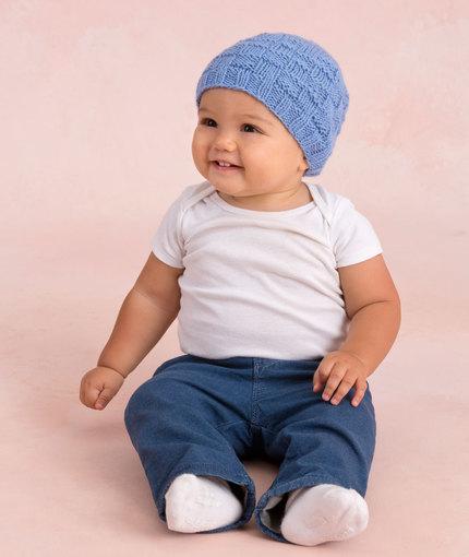 Basketweave Hat Baby Knitting Pattern