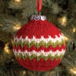 Candy Cane Ball Christmas Ornament