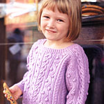 Child's Cabled Pullover