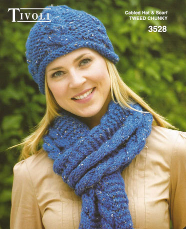 Chunky Cabled Hat and Scarf Pattern ⋆ Knitting Bee