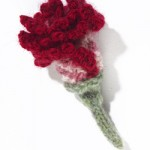Clove Carnation Knitted Flower