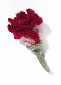 Clove Carnation Knitted Flower