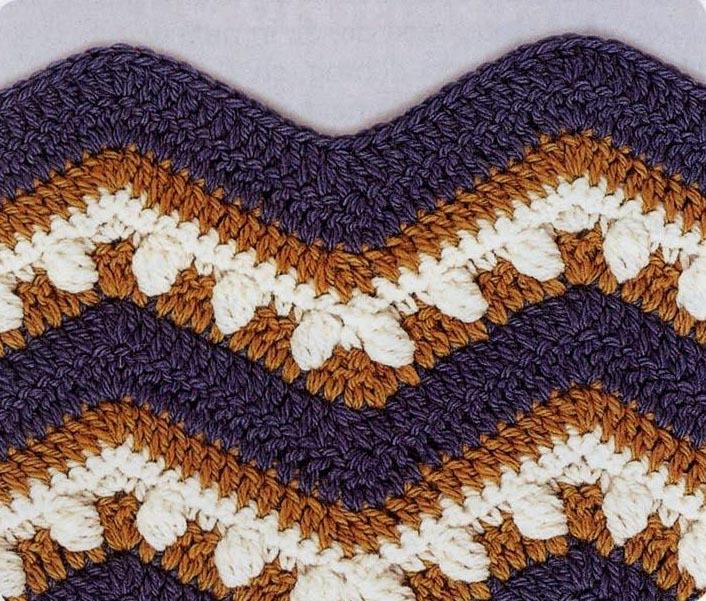 Crochet Wave/Ripple Pattern Stitch