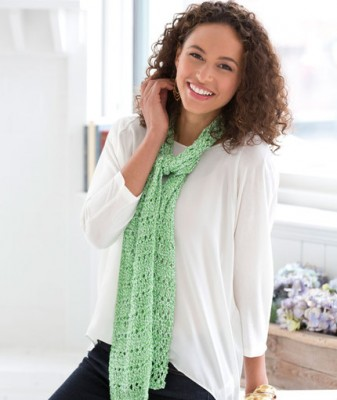 Drop Stitch Spring Scarf