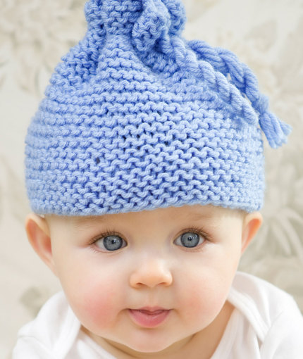Garter Stitch Baby Hat Knitting Bee