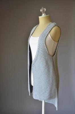 Hi Lo Vest - Knitted Pattern