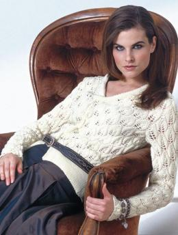 Ladies' Cardigan with Lace Pattern