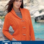 Misina - Large Collar Cabled Cardi