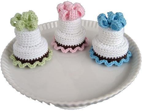 Free Free Crochet Cake Patterns Patterns Knitting Bee 3 Free