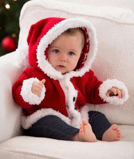 Santa Baby Sweater Knitting Pattern ? Knitting Bee