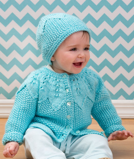 6abc41320 Star Bright Baby Cardigan and Hat ⋆ Knitting Bee