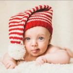 Tiny Candy Cane Knitted Stocking Cap