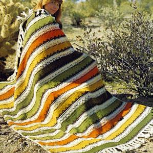 Tribal Afghan Knitting Pattern