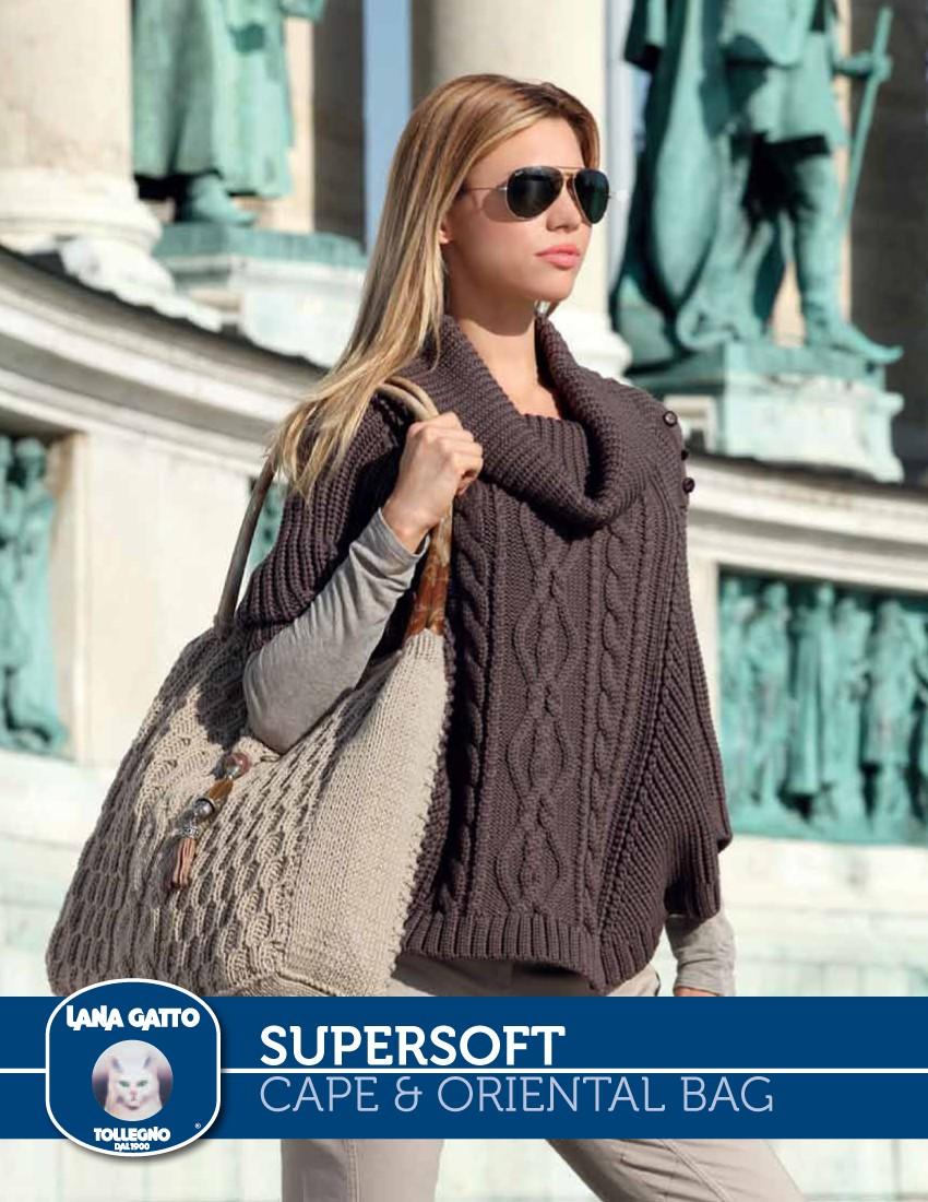 Aran Cape and Oriental Bag Pattern ⋆ Knitting Bee