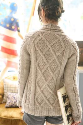 aran cardign knitting free