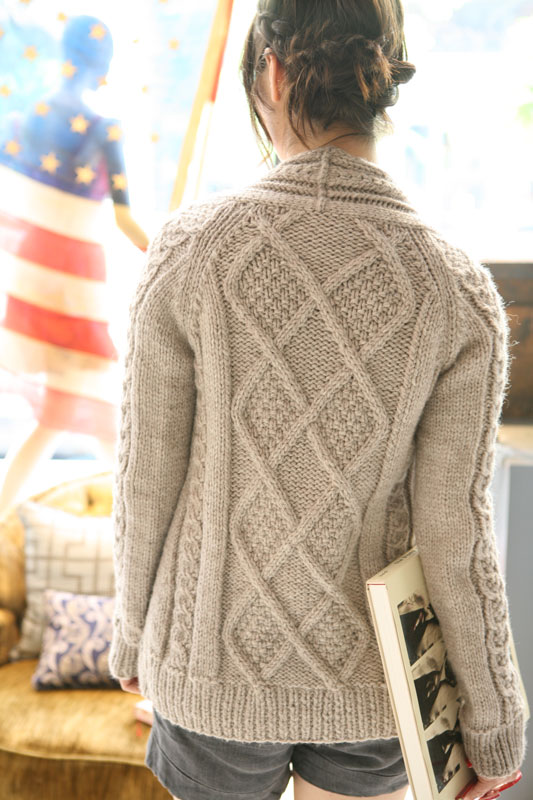 Sweater Knitting Patterns : Aidez - Aran Cardigan Free knitting pattern. Pattern