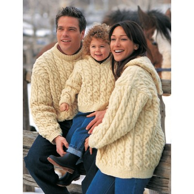 aran pullovers for the family free knitting pattern
