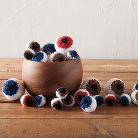 eyeballs knitted