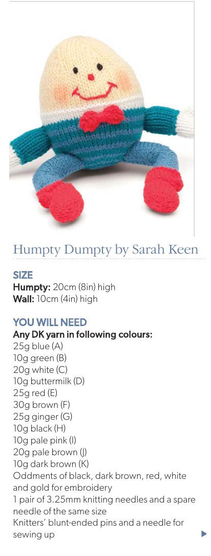 Humpty Dumpty Knitted Toy ⋆ Knitting Bee