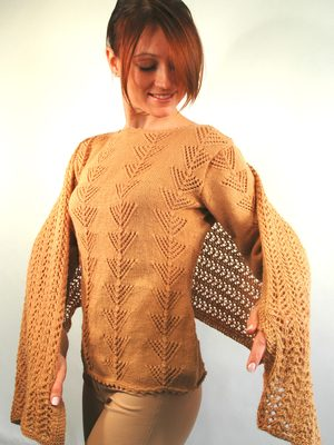 lace cashmere pullover pattern knitting