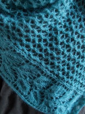 leaf shawl in mohair