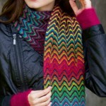 Colorful Chevron Scarf Knitting Pattern