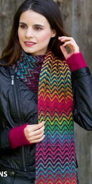 Colorful Chevron Scarf Knitting Pattern