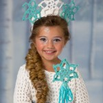 Snow Princess Dress, Tiara & Wand Crochet Costume Pattern
