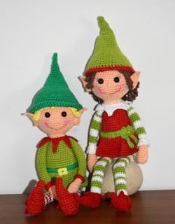 Christmas Elves - free Amigurumi crochet