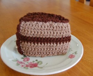 Crochet Birthday Cake