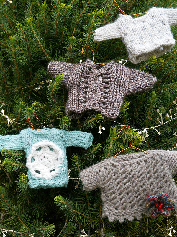 Miniature Sweater Ornaments Knitting Bee