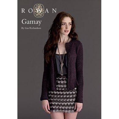 Gamay Cardigan in Rowan Fine Lace and Anchor Artiste Metallic