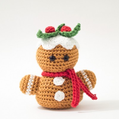 Gingerbread-man-crochet amigurumi pattern free