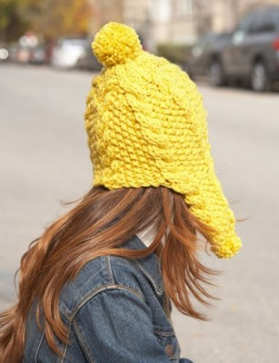 Golden Glow Earflap Hat 1